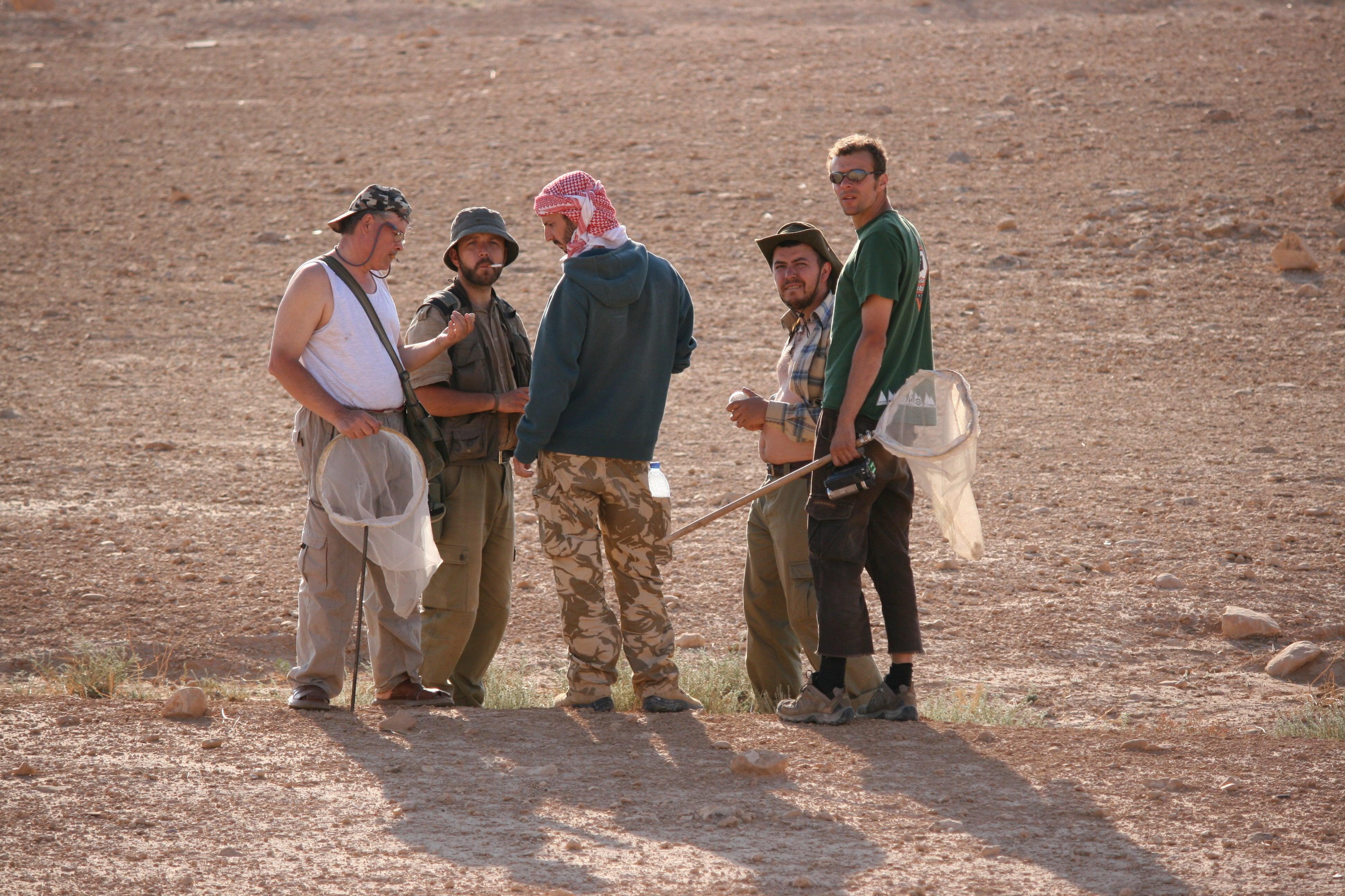 O parte dintre membrii expediției. De la stânga la dreapta: dr. Corneliu Pârvu, dr. Răzvan Popescu Mirceni, Răzvan Zaharia și Petre Bogdan Matei