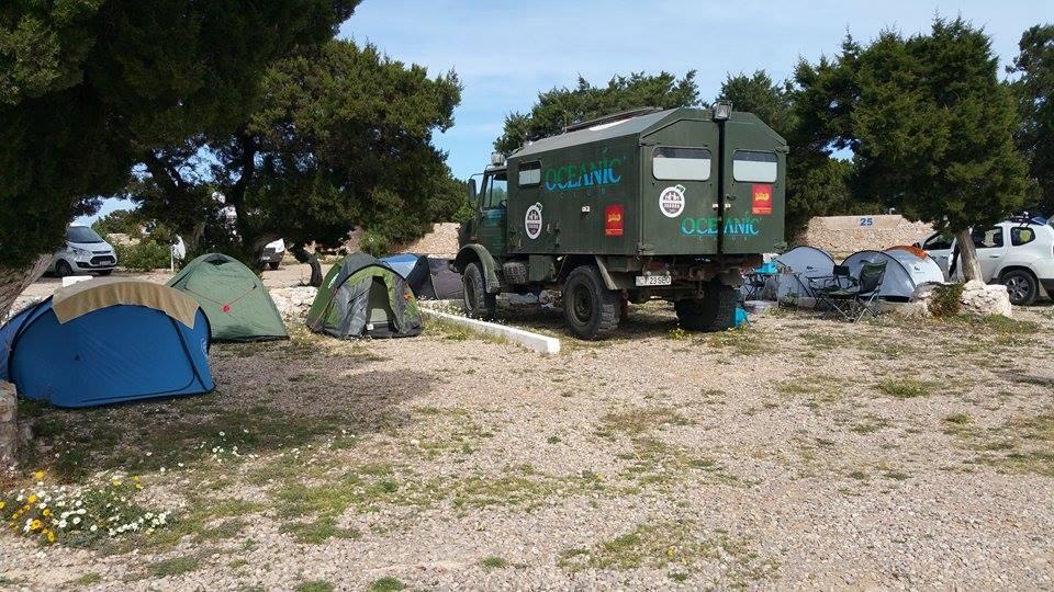 Locul de campare din apropiere de Sidi Kaouki – Cap Sim
